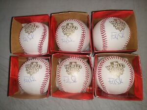 6 FREDDY SANCHEZ 2010 SAN FRANCISCO WORLD SERIES SIGNED OFFICIAL RAWLINGS BALL