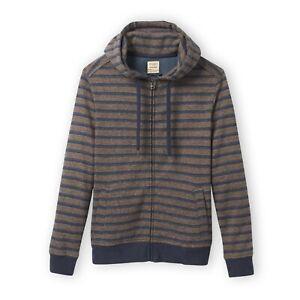 Men's Organic Hemp Hoodie Nocturnal Stripe - Full Zip Hoody - S M L