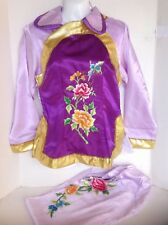 Geisha Girl Asian Kimono Fancy Halloween Adult Costume Lilac Purple Small