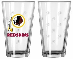 Washington Redskins Satin Etch Pint Glass Set