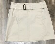 The Limited Beige Buckle Skirt Career Casual Womens Size 4