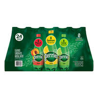 Perrier Sparkling Natural Mineral Water Variety Pack (16.9oz / 24pk)