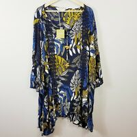 [ VIRTUELLE ] Womens La Tropical Tunic Top NEW $120 | Plus Size AU 24 or  US 20
