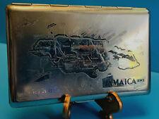Old Collectible Tallent Vtg Pocket Cigarette Case Wallet Map Of Jamaica B.W.I.
