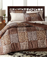 Leopard Safari Wild Cat Animal Print Queen Comforter Set (8 Piece Bed In A Bag)