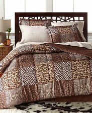 Leopard Safari Wild Cats Animal Print Twin Comforter Set (6 Piece Bed In A Bag)
