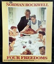 Jaymar 800 Piece Norman Rockwell FOUR FREEDOMS FREEDOM FROM WANT Puzzle!