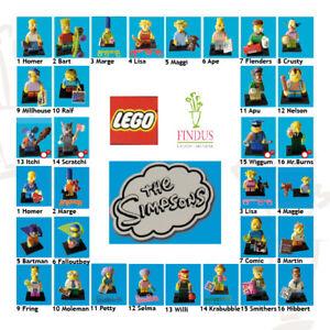 Lego 71005+71009 Minifiguren Die Simpsons1/2  Figuren zur Auswahl neu