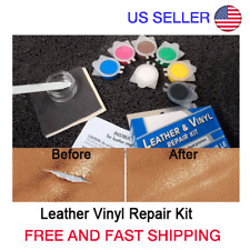 No Heat Leather Vinyl Repair Kit Fix Rips Burns Sofa Holes Car Boat Seats Gouges
