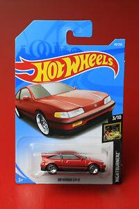 Hotwheels '88 HONDA CR-X - RED  - Nightburnerz series - 3/10