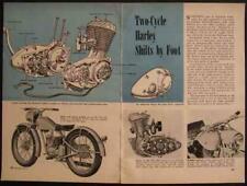 Harley Davidson 125 1948 vintage pictorial article