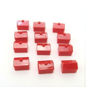 2008 Monopoly Play Faster Replacement Pieces-Complete Set 12 Red Hotels