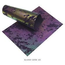 Rindleder Irisierend Metallic Design 2,5 mm Dick A5 Format Echt Leather 366