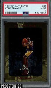 1997-98 SP Authentic #68 Kobe Bryant Los Angeles Lakers HOF PSA 9 MINT