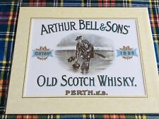 Arthur Bell & Son Whisky Perth, Scotland, mounted Scots Bonspiel Curling print