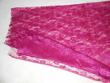 Piece of Deep Purple Lace Material With Floral Pattern, Approx. 110cm x 140cm