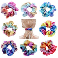 Scrunchy Hair Tie Ropes Ponytail Holder Elastic Hair Bands Glitter Scrunchie