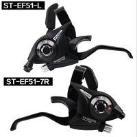 Shimano ST-EF51-7 MTB Bike Gear 3 x 7 Speed Brake Shifter Combo Lever 1 Pair Set