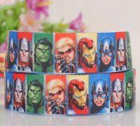 Marvel Avengers Superheros Character Grosgrain Ribbon for card Making & Bows.
