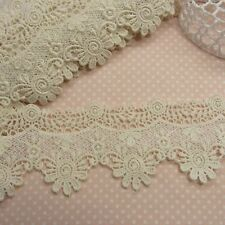 Antique Style Scalloped Embroidery Cotton Crochet Lace Trim 7.5cm Wide 1Yd