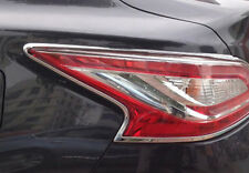 For Nissan Altima 2013-2018 Silver Chrome Rear Tail Light Lamp Cover Trim