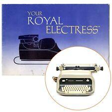ROYAL ELECTRESS TYPEWRITER INSTRUCTION MANUAL Original Vtg Antique Electric