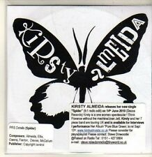 (CP659) Kirsty Almeida, Spider - DJ CD