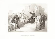 """Aubrey's """"HISTORY of ENGLAND"""" -Steel Eng. -1870- """"PREACHING THE CRUSADE"""""""