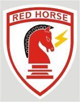 STICKER - U.S. AIR FORCE  RED HORSE