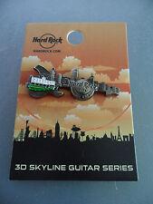 Hard Rock Cafe Hong Kong - 3D Skyline - Guitar Pin on Card ( Worldwide LE100 )