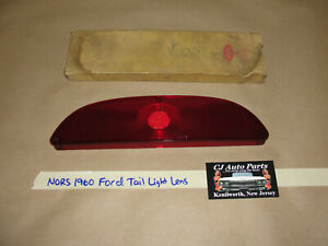 NOS/NORS 1960 FORD GALAXIE FAIRLANE TAIL LIGHT LENS