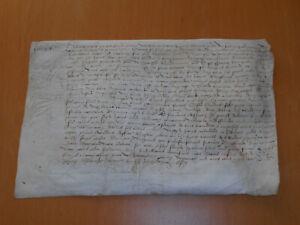 16th century 1504 original antique document parchment signed elegant manuscript