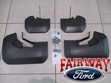 15 thru 18 Transit 350 HD Dually OEM Ford Molded Splash Guards Mud Flaps 4pc DRW