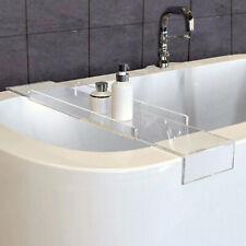 Acrylic Bathroom Bath Caddy Wine Glass Holder Tray Over Bath Tub Custom Size