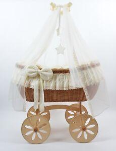 ALANEL berceau bébé Mobile en osier Nouveau LIT Wicker Crib Ophelia bassinett*