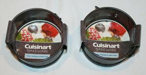 "lot of 2 Cuisinart Bakeware 4"" Mini Springform pans Steel Gray CMBM-4SP NEW"