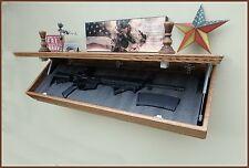 """42""""XL Oak  Hidden Compartment Tactical Gun Concealment Shelf"""