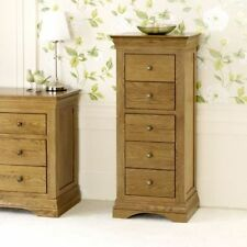 Oak Bedroom Tallboy Chests of Drawers