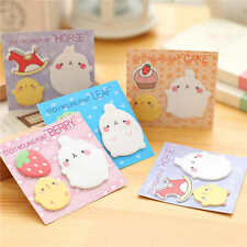 4pcs Chubby Rabbit Memo Pad Band Memos Post It Stickers Stationery Office Supply