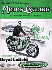 Feb 21 1957 Royal Enfield Crusader 250 Motor Cycle ADVERT - Magazine Cover Print