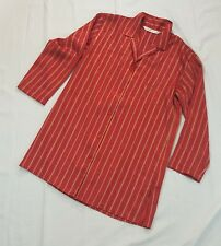 Victoria's Secret Night Sleep Shirt Nightgown SZ Small Red Gold