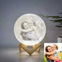 Personalized Photo Moon Lamp Night Light Custom picture Dimmable For Mom or kids