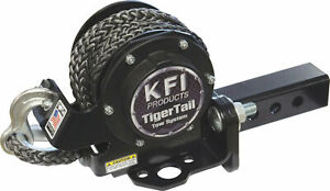 """KFI Tiger Tail 12' Tow Rope System ATV/UTV 2"""" Receiver Hitch Retractable (101100"""
