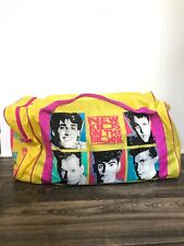 New kids On The Block Vintage Duffel Bag Yellow Pink 1990 Faces Nkotb