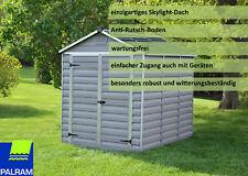 Palram Geräteschuppen Gartenhaus Stauraum Skylight 6X8 Alu/Stahl anthrazit Neu