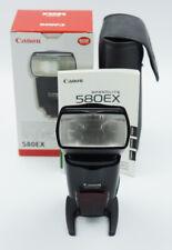 Canon Speedlite 580EX Shoe Mount Flash w/ Case, Foot, Manual, Box  #678