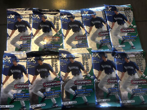 2000 Fleer Skybox EX Baseball Hobby Pack Lot (10) Autographics/Essential Cred...