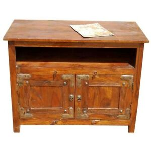 Cromer Indian Solid Wood TV Entertainment Center Brown (MADE TO ORDER)