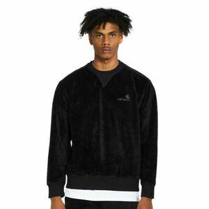 Carhartt Wip United Script Sweatshirt Velvet Black Chase 10.6 oz Jumper Black XL