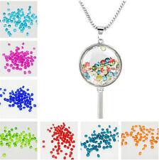 400Pcs4mm Crystal Birthstones Floating Charm for Glass Living Memory Locket Pick